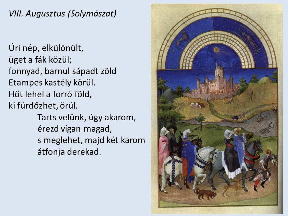 VIII. Augusztus (Solymászat)