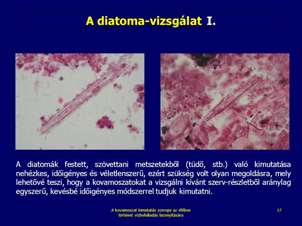 A diatoma-vizsgálat I.