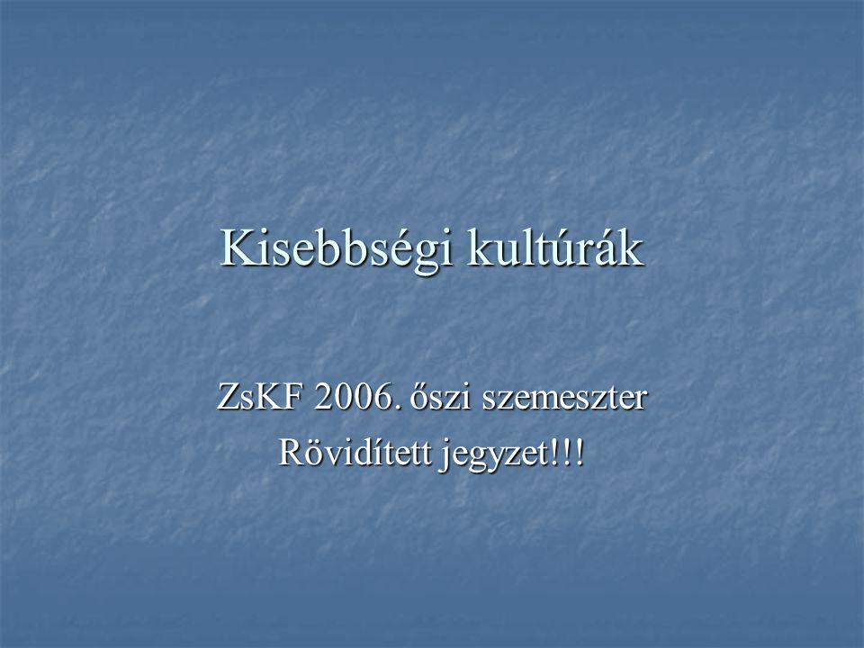 ZsKF 2006. őszi szemeszter Rövidített jegyzet!!!