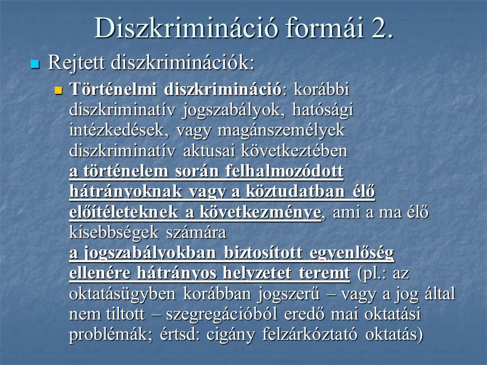 Diszkrimináció formái 2.
