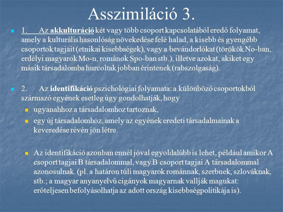 Asszimiláció 3.