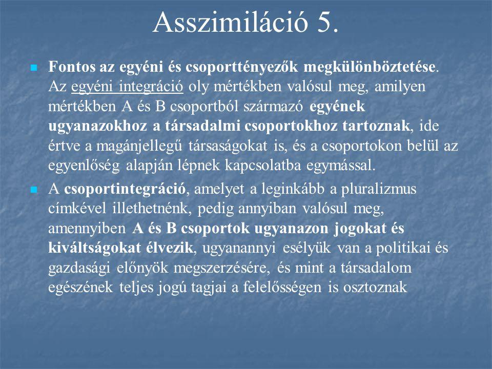Asszimiláció 5.
