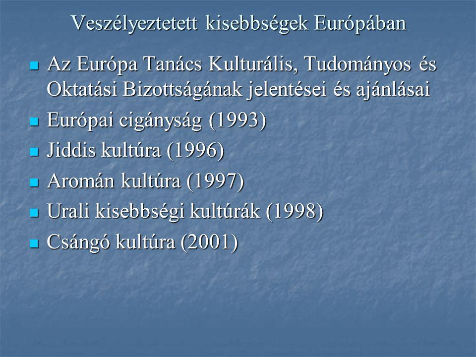 Veszélyeztetett kisebbségek Európában