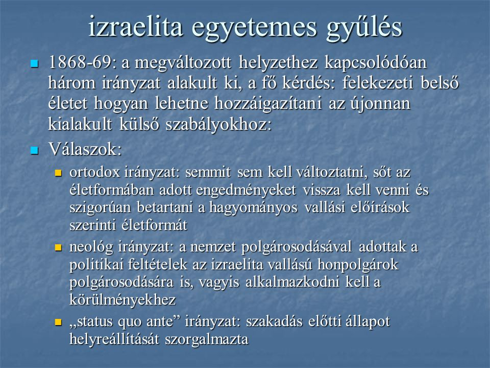 izraelita egyetemes gyűlés