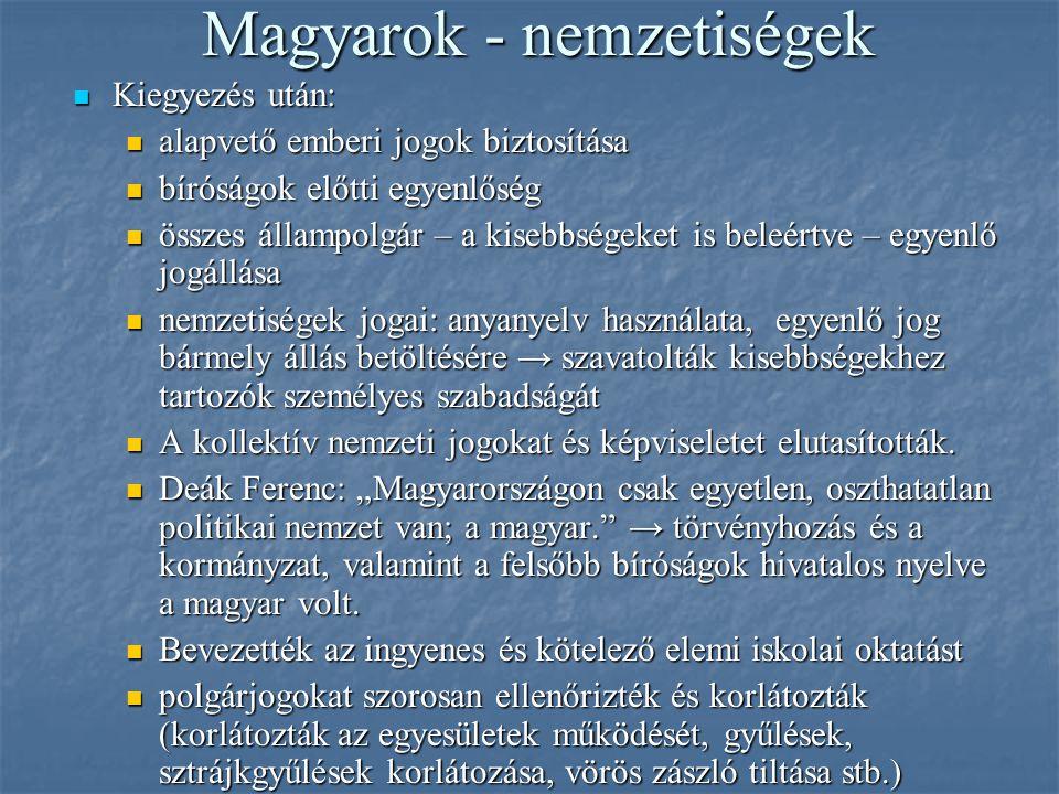 Magyarok - nemzetiségek