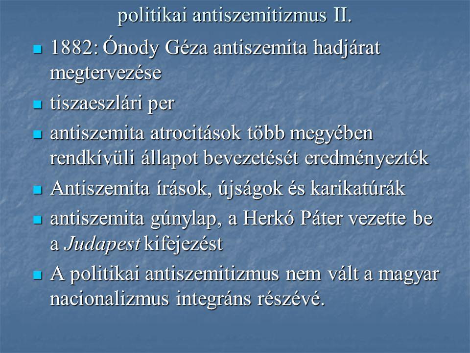 politikai antiszemitizmus II.