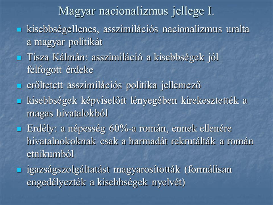 Magyar nacionalizmus jellege I.