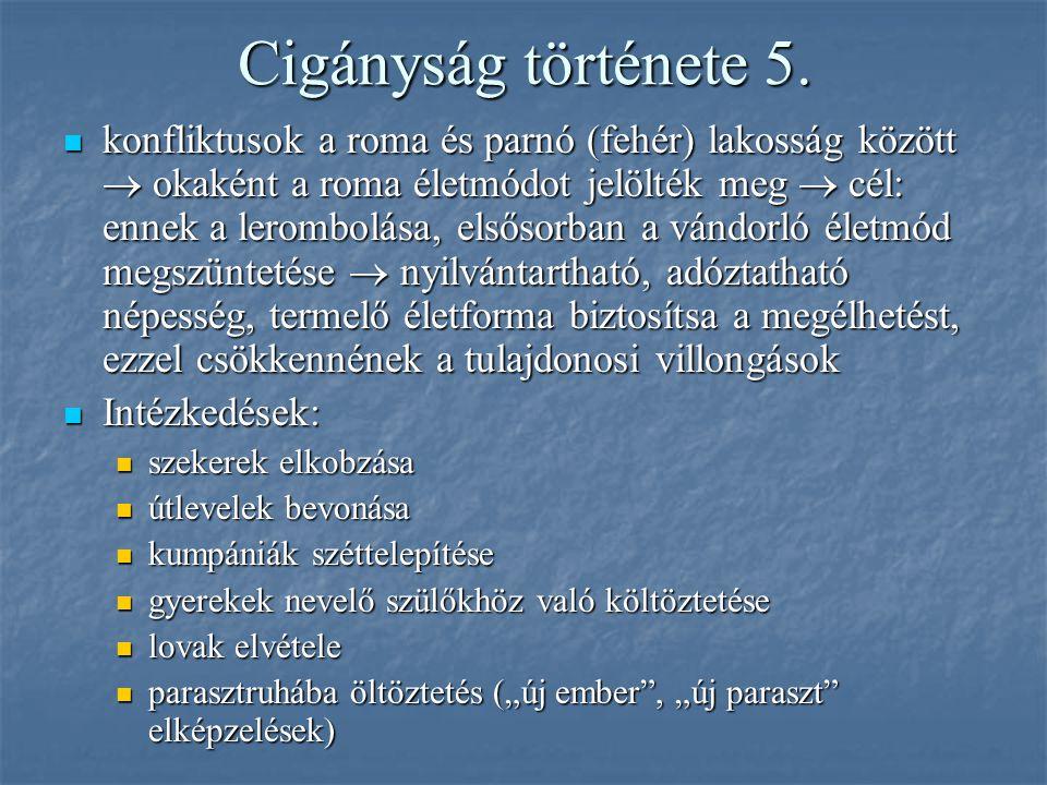 Cigányság története 5.