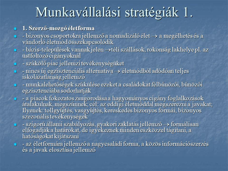 Munkavállalási stratégiák 1.