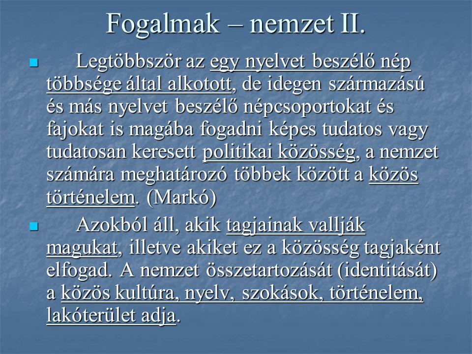 Fogalmak – nemzet II.