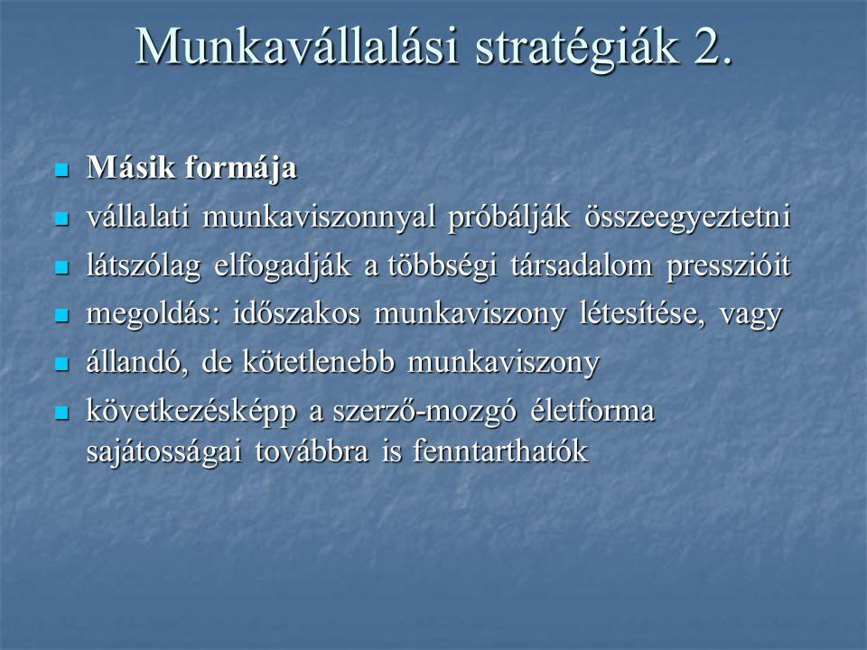 Munkavállalási stratégiák 2.