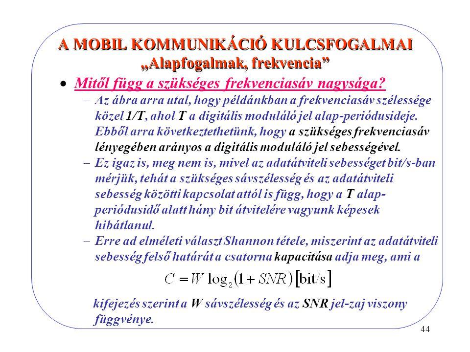 """A MOBIL KOMMUNIKÁCIÓ KULCSFOGALMAI """"Alapfogalmak, frekvencia"""