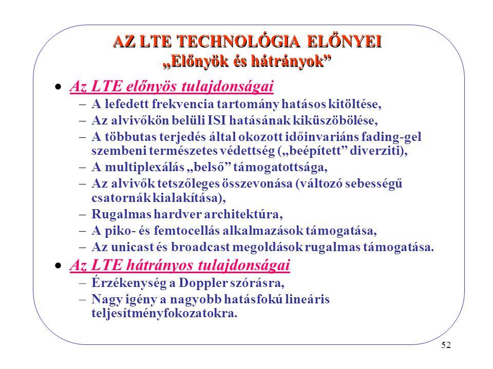 """AZ LTE TECHNOLÓGIA ELŐNYEI """"Előnyök és hátrányok"""