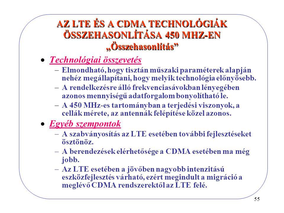 Technológiai összevetés
