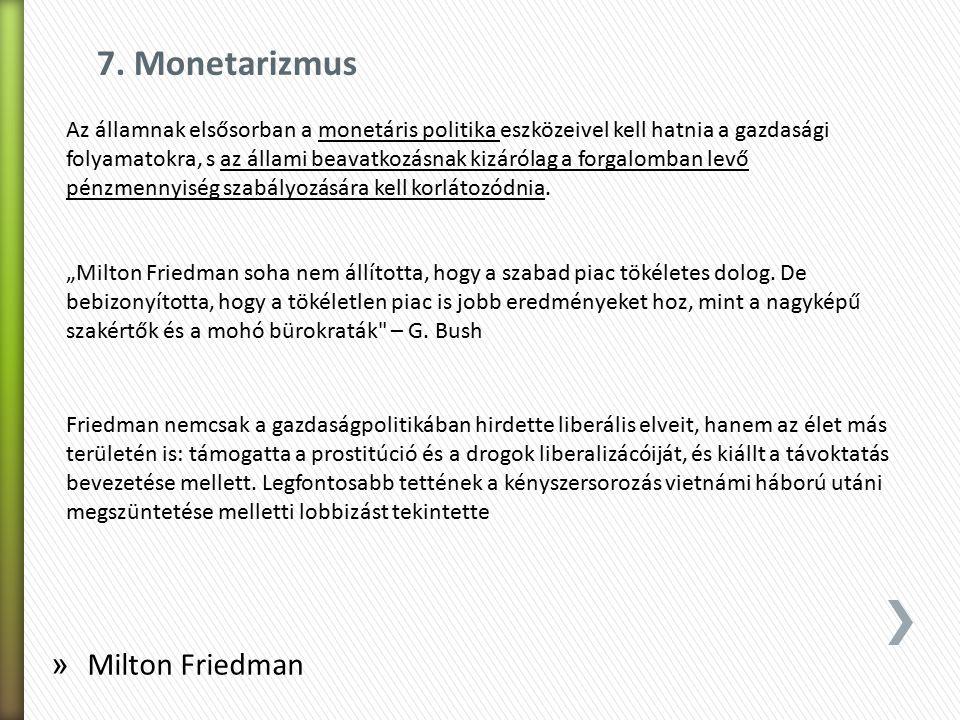 7. Monetarizmus Milton Friedman