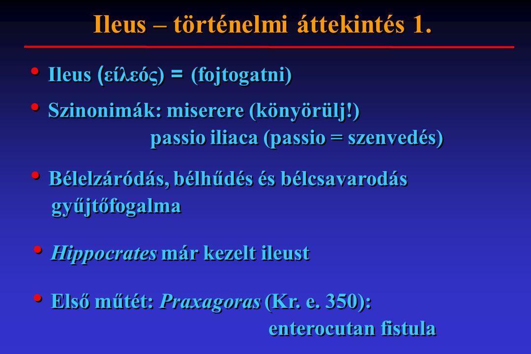 Ileus – történelmi áttekintés 1.