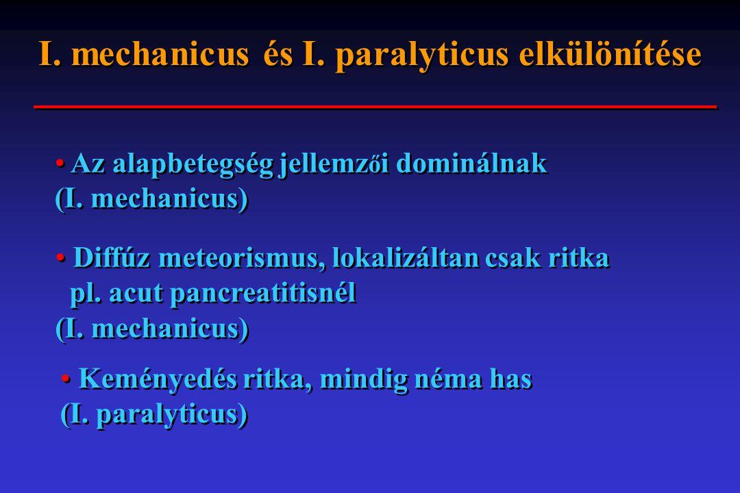 I. mechanicus és I. paralyticus elkülönítése