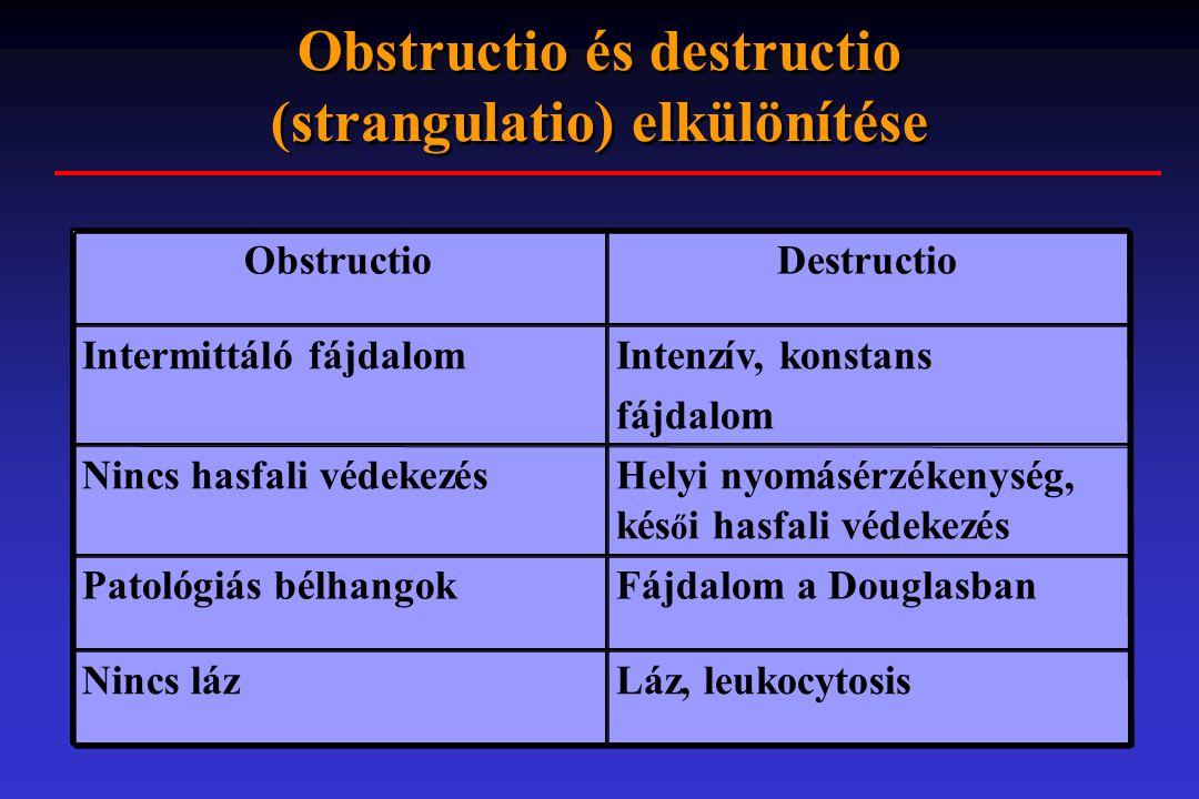 Obstructio és destructio (strangulatio) elkülönítése