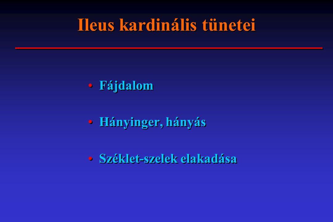 Ileus kardinális tünetei