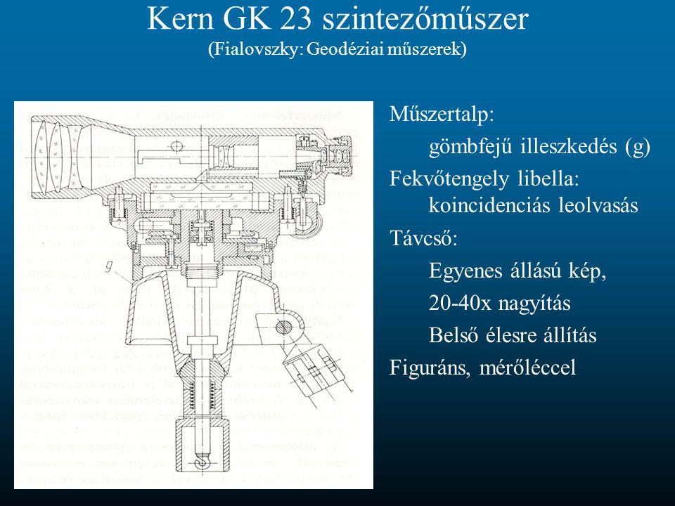 Kern GK 23 szintezőműszer (Fialovszky: Geodéziai műszerek)