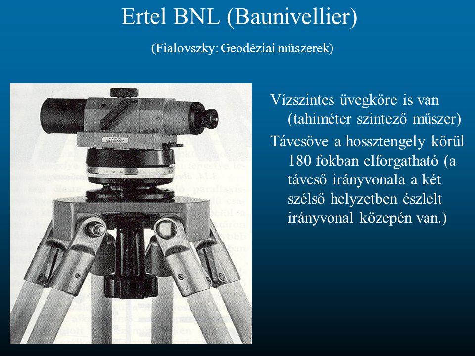 Ertel BNL (Baunivellier) (Fialovszky: Geodéziai műszerek)