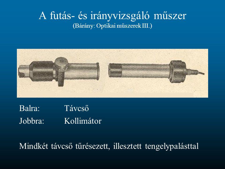 A futás- és irányvizsgáló műszer (Bárány: Optikai műszerek III.)