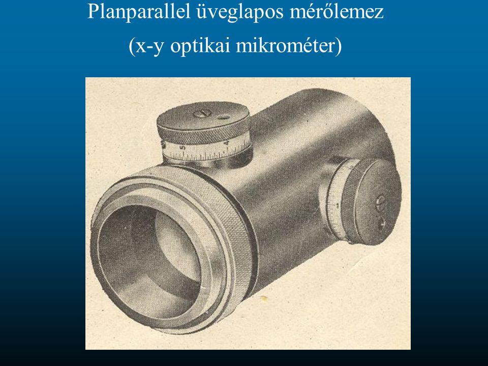 Planparallel üveglapos mérőlemez (x-y optikai mikrométer)