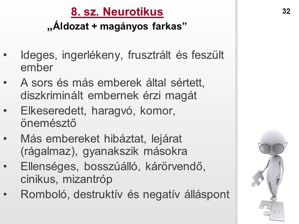 """8. sz. Neurotikus """"Áldozat + magányos farkas"""