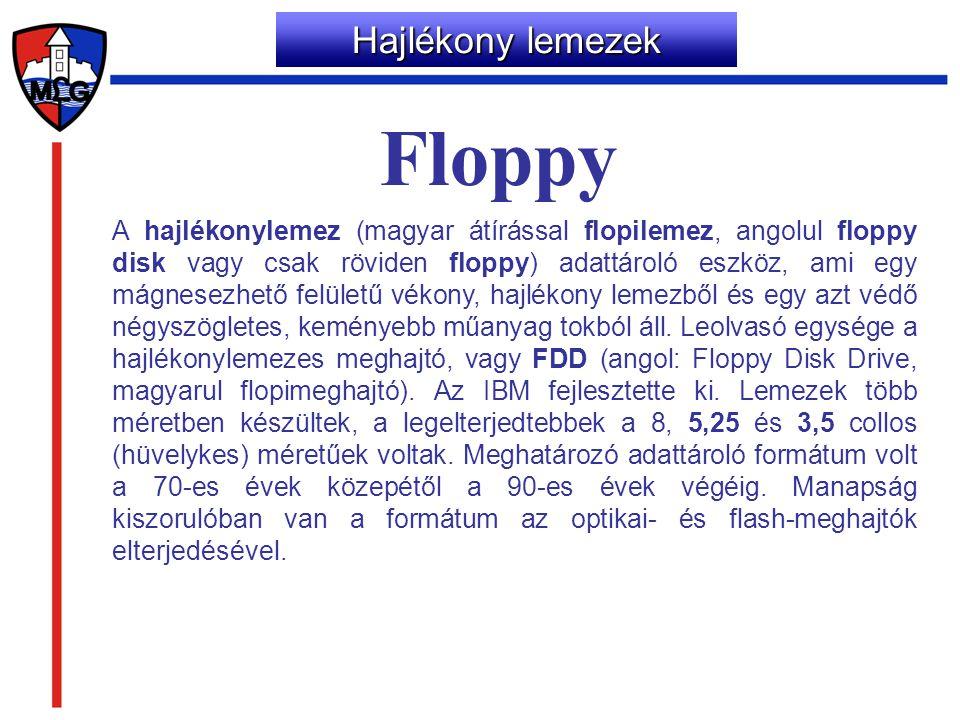 Floppy Hajlékony lemezek