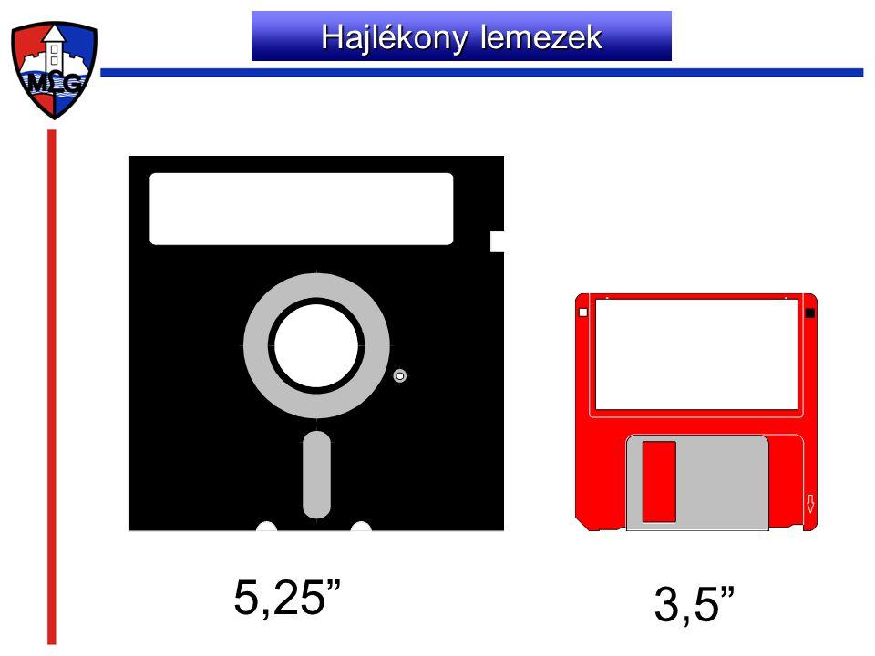 Hajlékony lemezek 5,25 3,5
