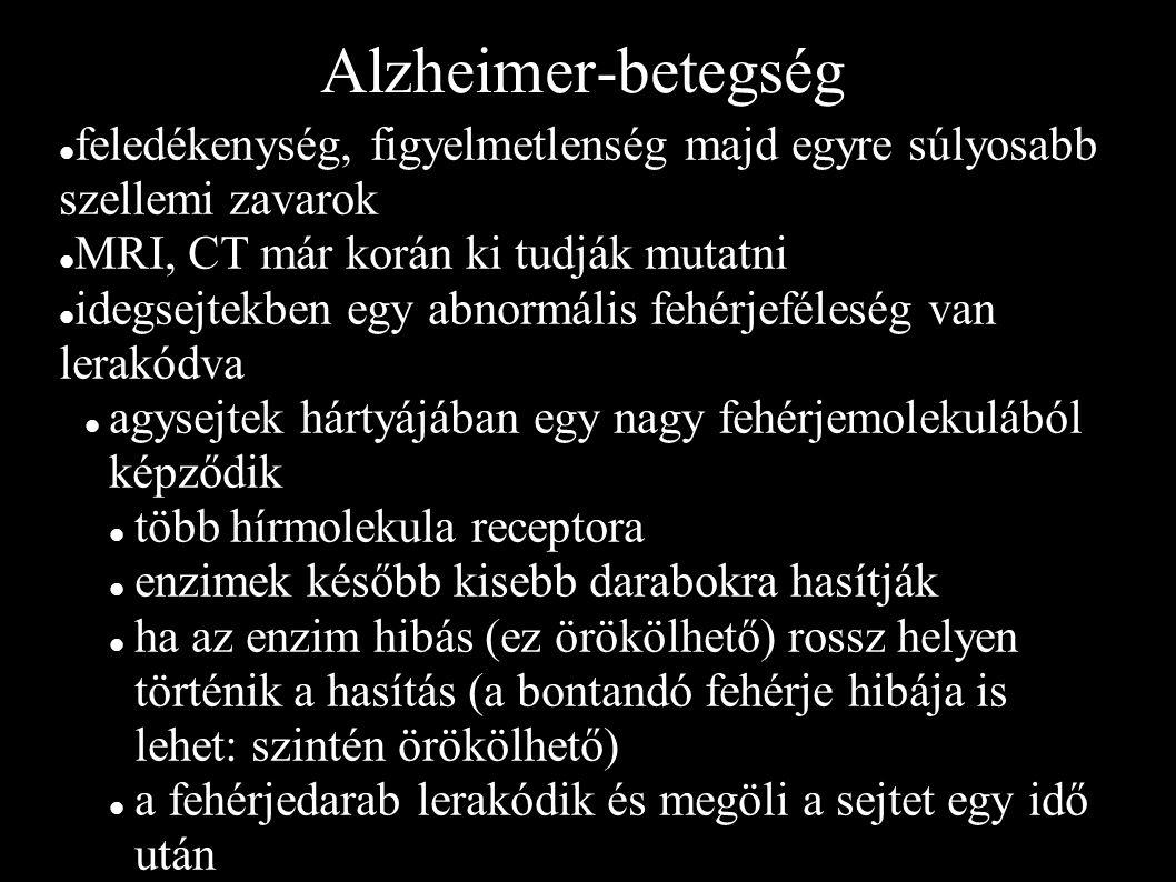 Alzheimer-betegség feledékenység, figyelmetlenség majd egyre súlyosabb szellemi zavarok. MRI, CT már korán ki tudják mutatni.