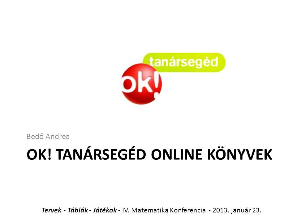 OK! Tanársegéd Online Könyvek