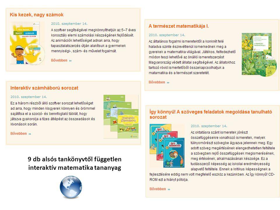 9 db alsós tankönyvtől független interaktív matematika tananyag