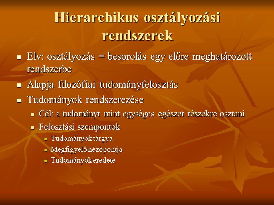 Hierarchikus osztályozási rendszerek