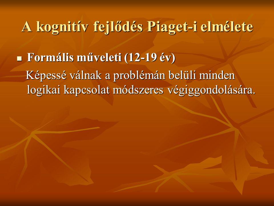 A kognitív fejlődés Piaget-i elmélete