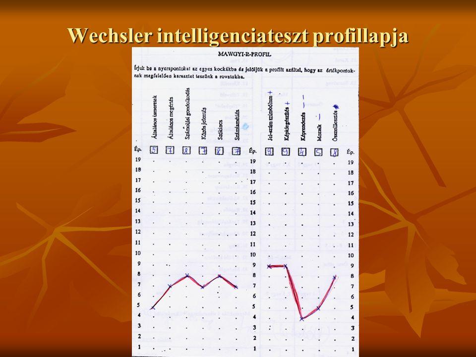 Wechsler intelligenciateszt profillapja