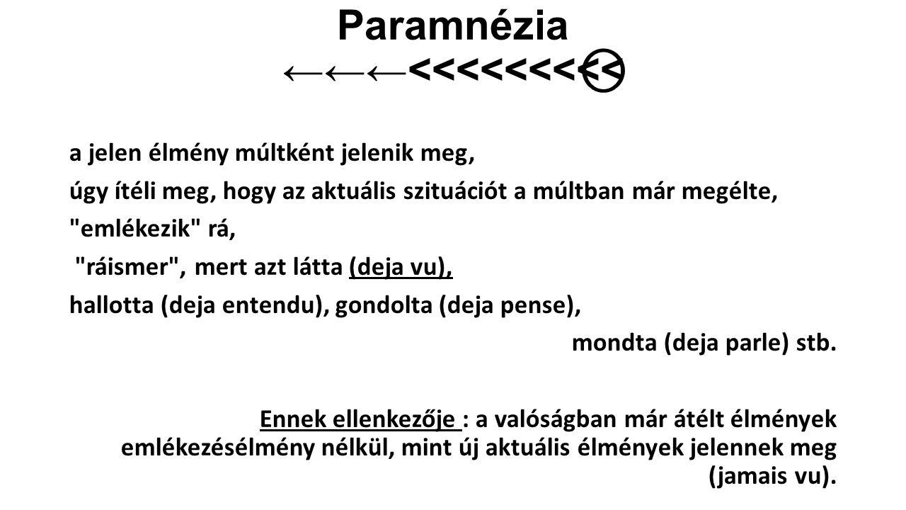 Paramnézia ←←←<<<<<<<<<⃝
