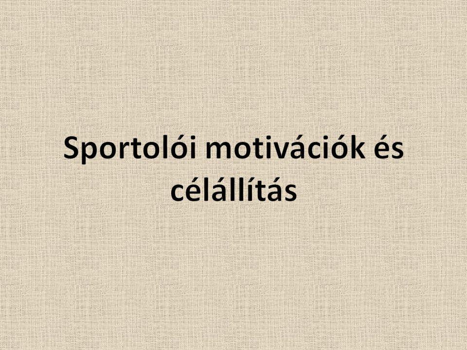 Sportolói motivációk és célállítás