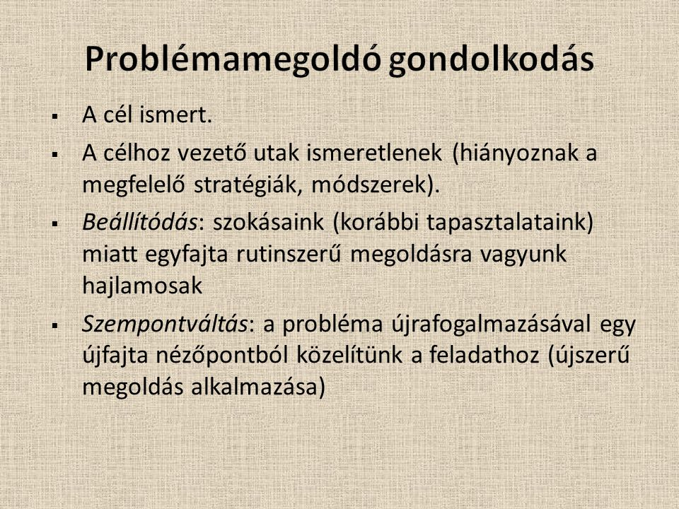 Problémamegoldó gondolkodás