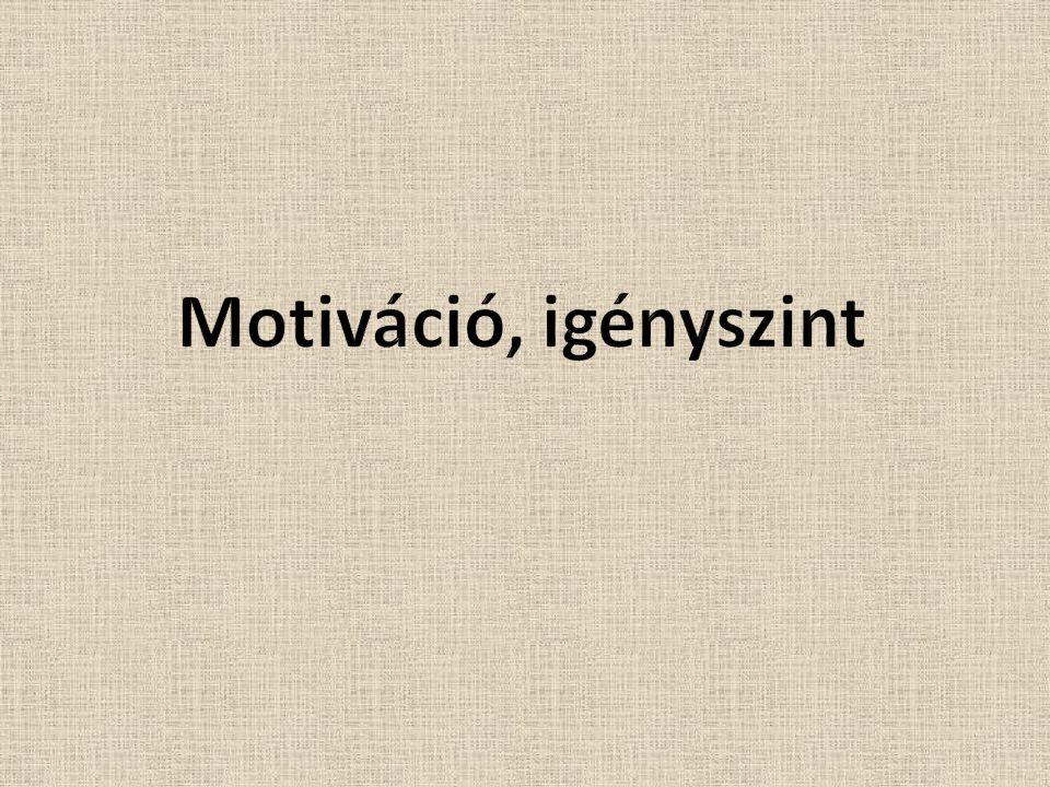 Motiváció, igényszint