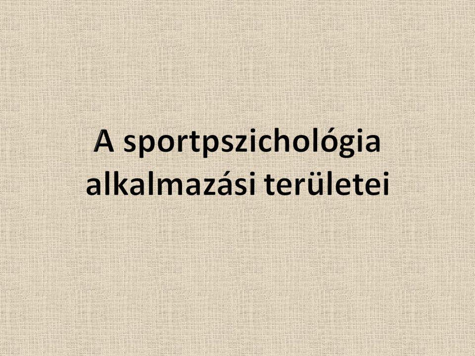 A sportpszichológia alkalmazási területei