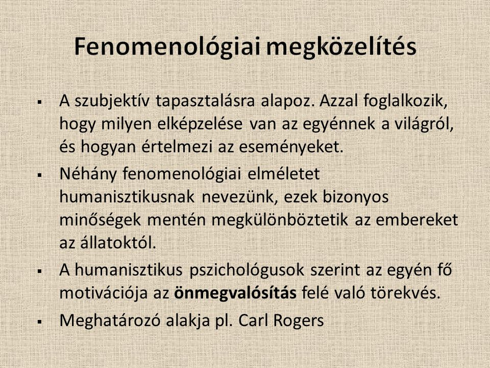 Fenomenológiai megközelítés