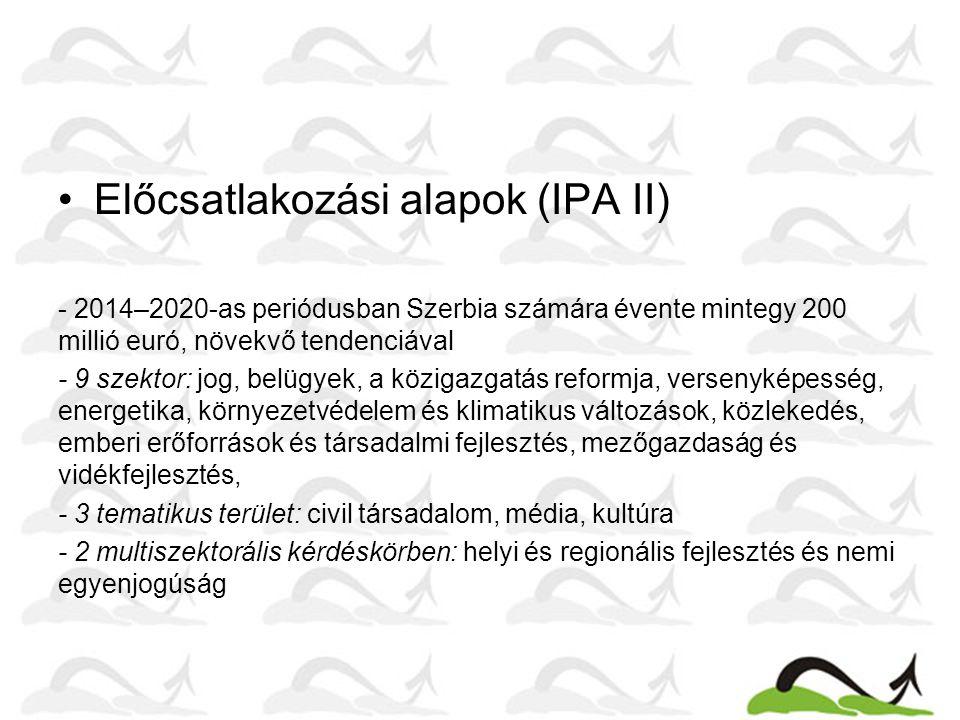 Előcsatlakozási alapok (IPA II)