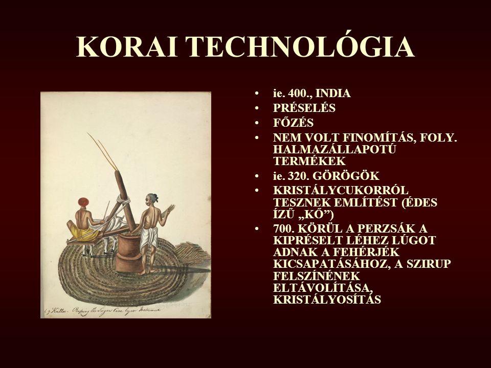 KORAI TECHNOLÓGIA ie. 400., INDIA PRÉSELÉS FŐZÉS