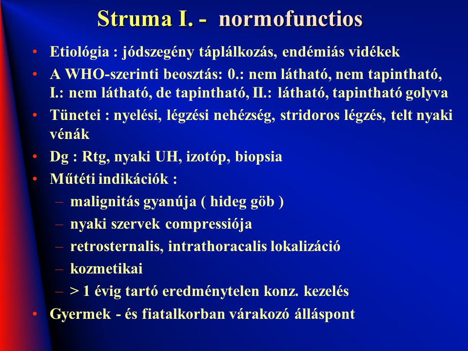 Struma I. - normofunctios
