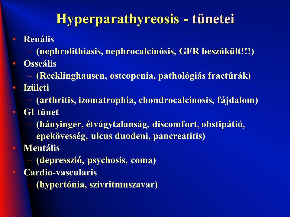 Hyperparathyreosis - tünetei