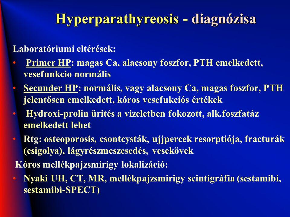 Hyperparathyreosis - diagnózisa