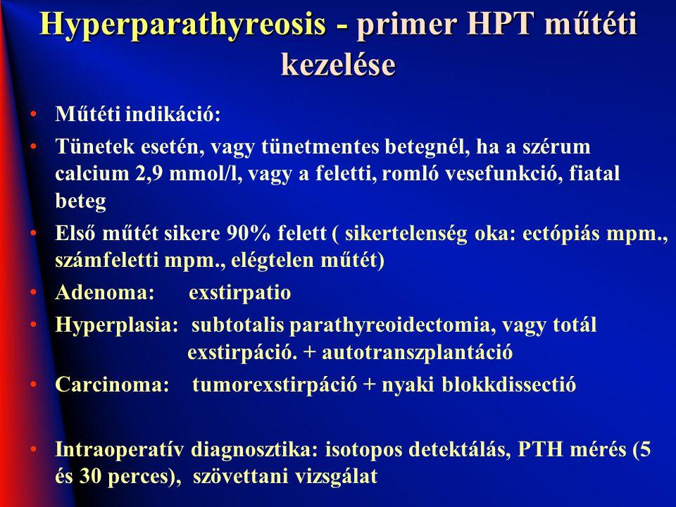 Hyperparathyreosis - primer HPT műtéti kezelése