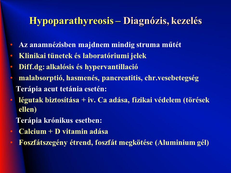 Hypoparathyreosis – Diagnózis, kezelés