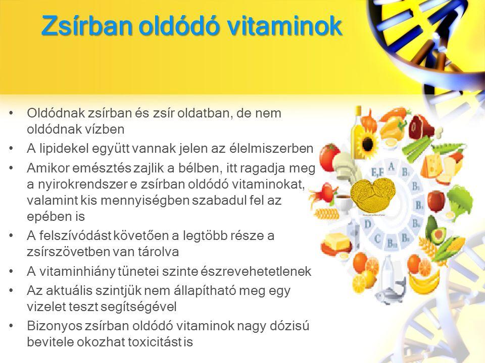 Zsírban oldódó vitaminok